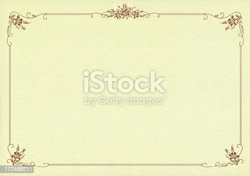 istock Certificate Frame paper textured background 172465211