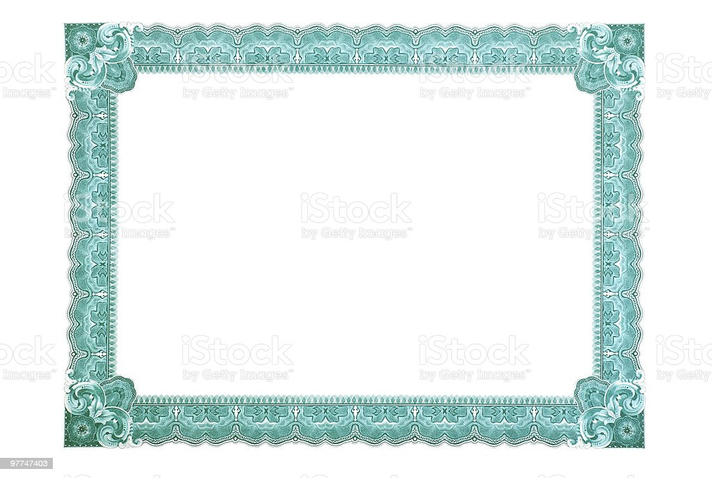 Certificate Frame stock photo