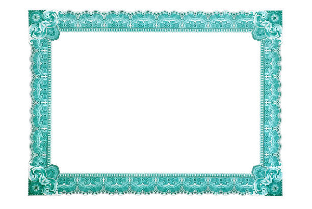 certificate frame - guilloche stock photos and pictures
