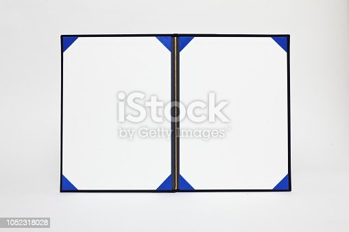 istock A certificate holder on white background 1052318028