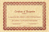 Certificate of recognition on brown paper.Similar images -