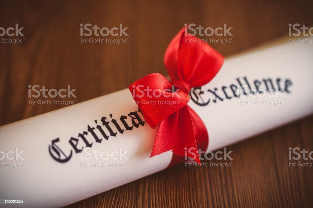 Certificate. stock photo