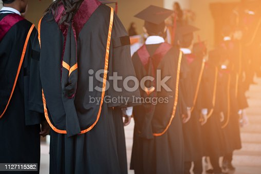 istock Certificate presentation ceremony for graduation at the university 1127115382