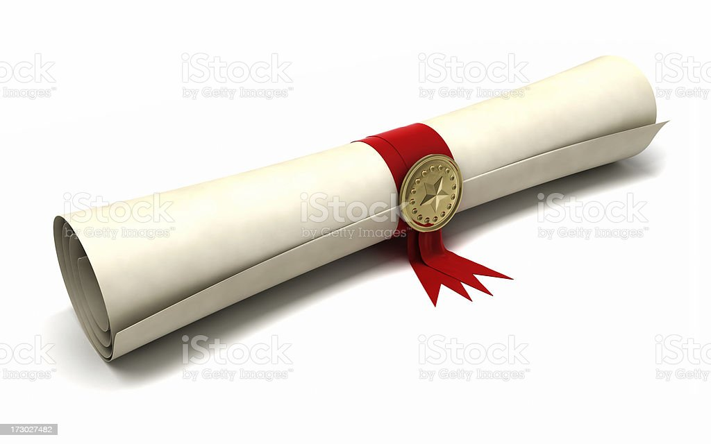 Certificate Scroll - Royalty-free Achievement Stock Photo