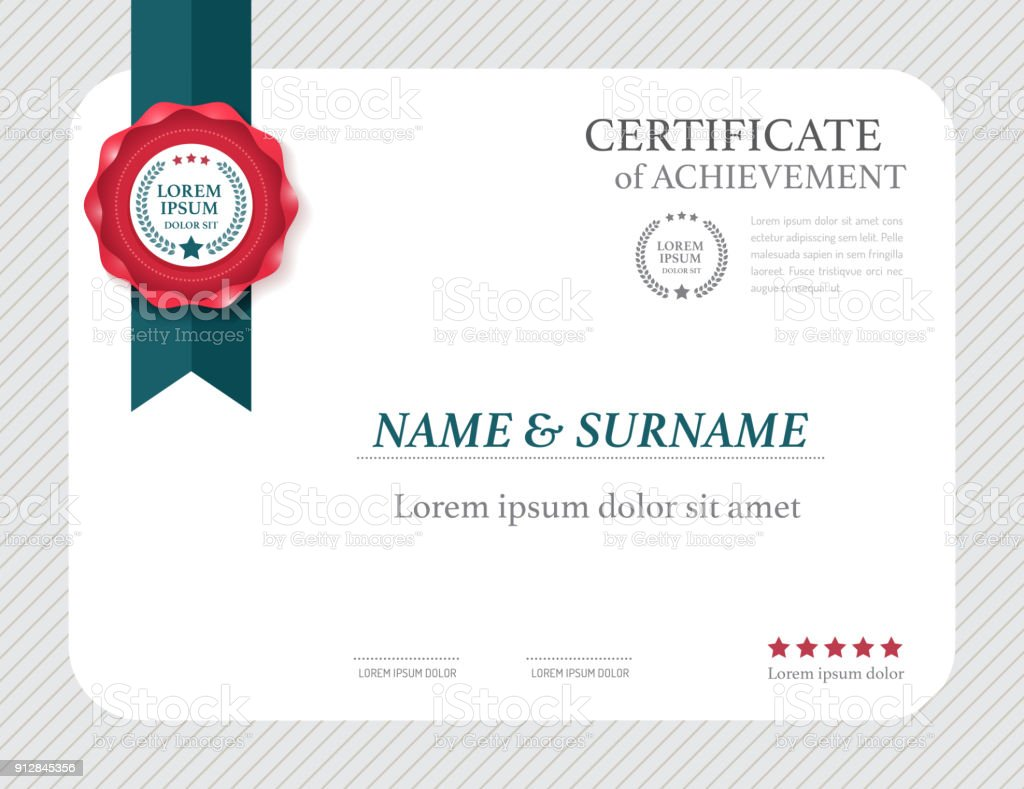 Certificate template layout  frame design vector. - foto stock
