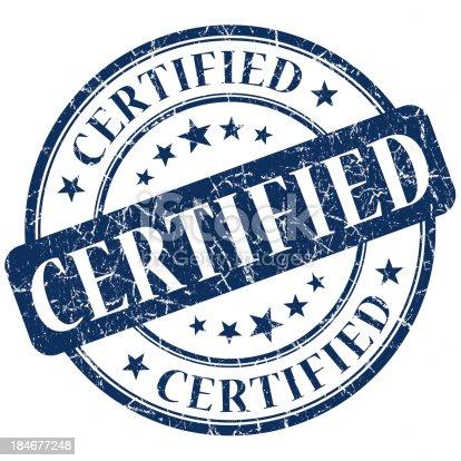 istock certified blue round stamp 184677248