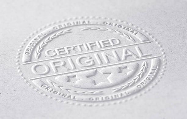 certified original - brokat stock-fotos und bilder
