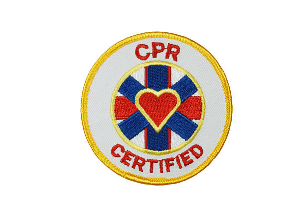 CPR Certified Patch stock photo