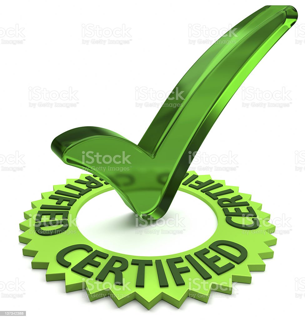 Certified royalty-free stock photo