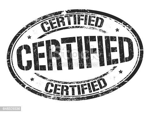 istock Certified sign or stamp 648329336