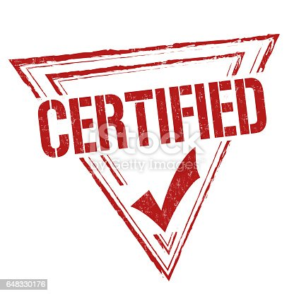 istock Certified sign or stamp 648330176