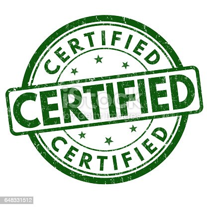 istock Certified sign or stamp 648331512