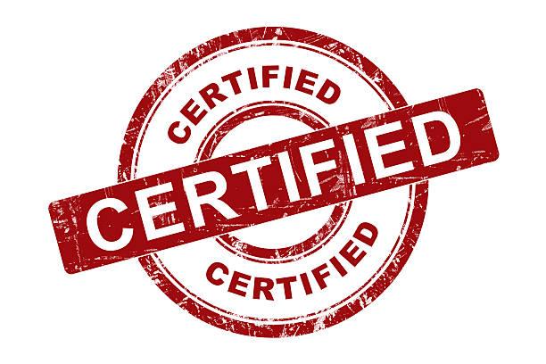 symbole certifiés - concave photos et images de collection