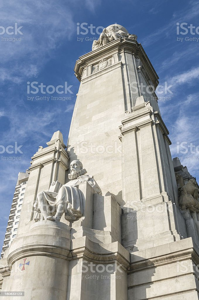 Cervantes in Madrid royalty-free stock photo