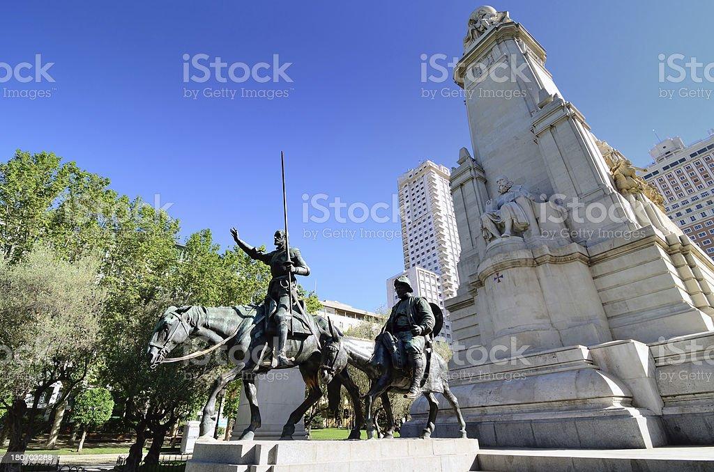 Cervantes Monument, Madrid royalty-free stock photo