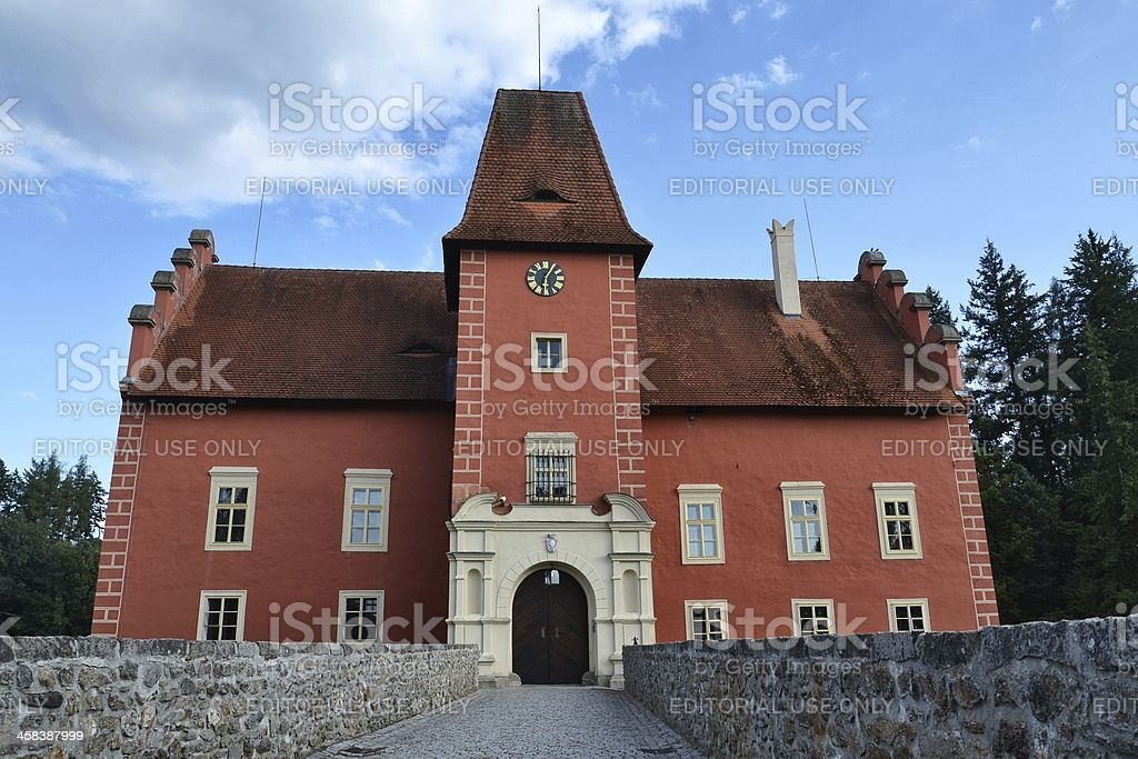 Cervena Lhota Castle in the Czech Republic royalty-free stock photo