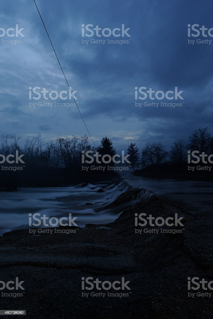 Cervo in flood. stock photo
