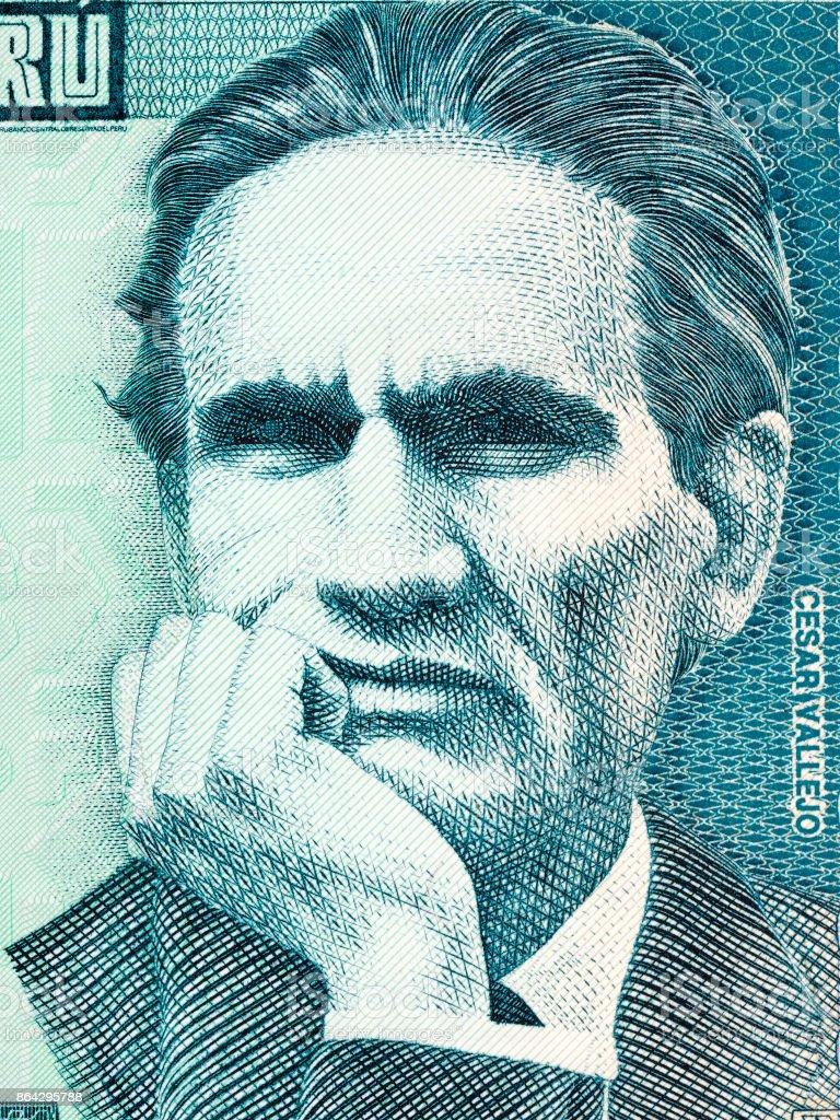 Cesar Vallejo portrait royalty-free stock photo
