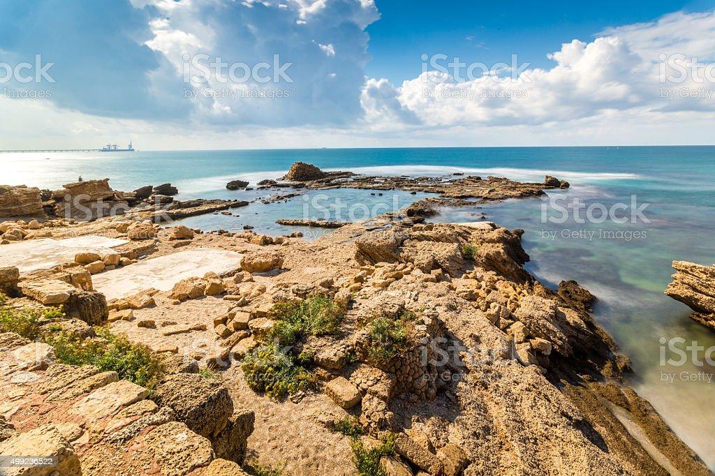 Cesarea National Park, Israel stock photo