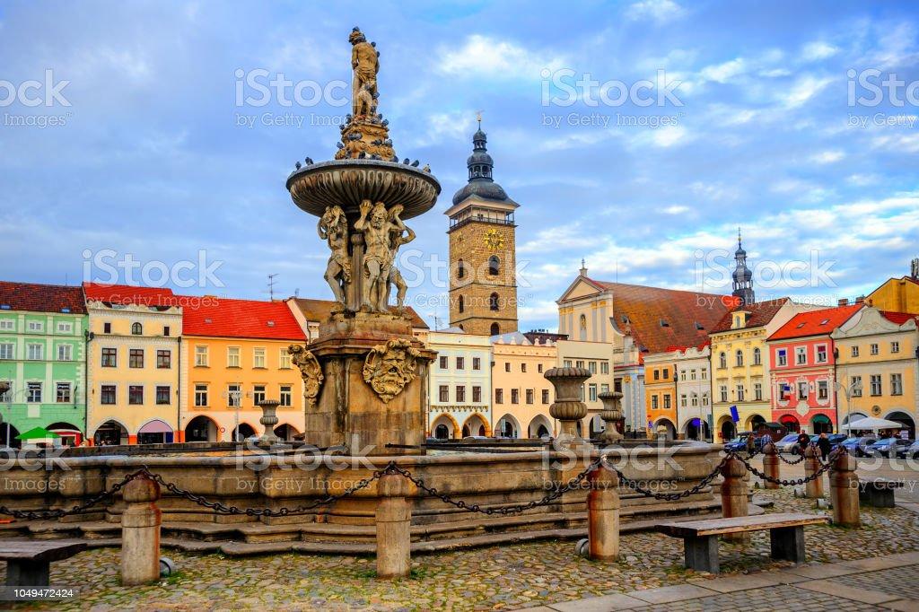 Ceske Budejovice Old Town, Budvar, Czech Republic stock photo