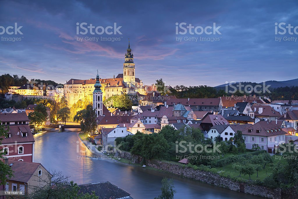 Cesky Kromlov, Czech Republic. stock photo
