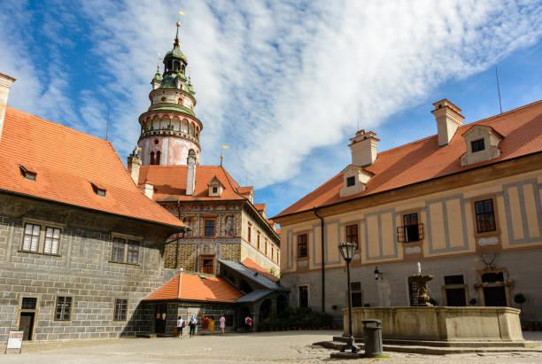 Cesky Krumlov Schlosshof, Tschechische Republik – Foto
