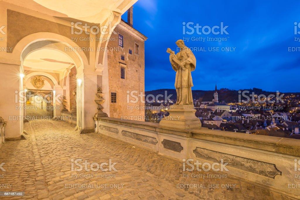 Cesky Krumlov Castle in Czech Republic stock photo