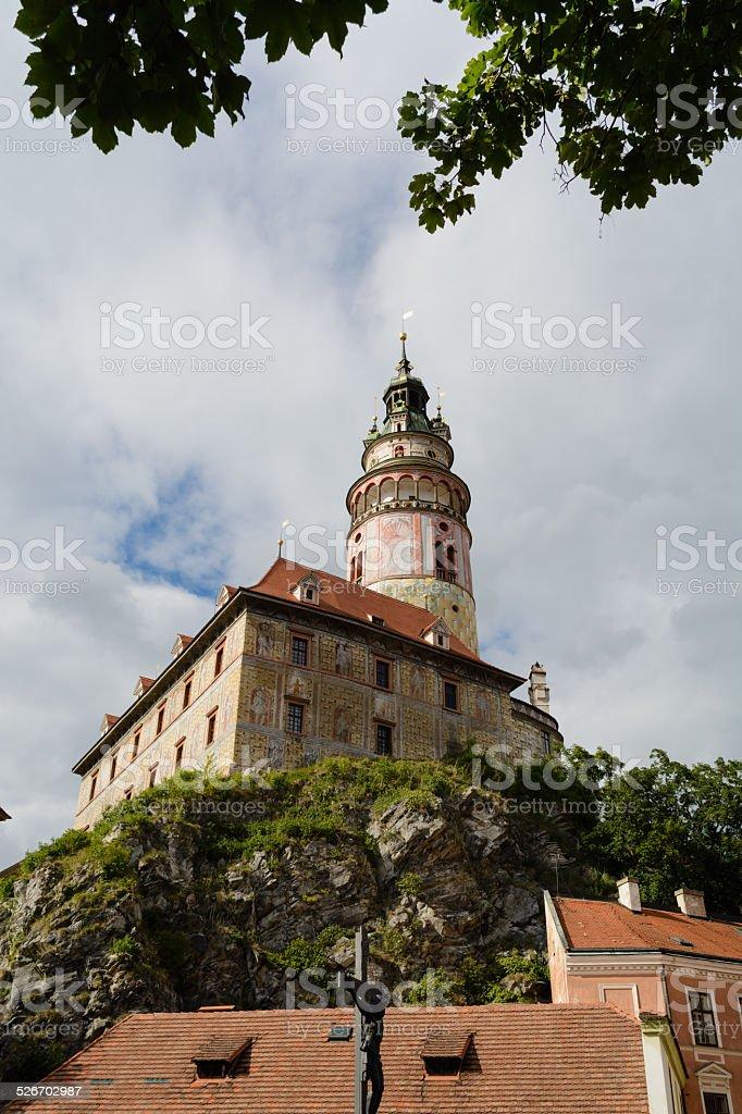 Castelo de Cesky Krumlov tower foto royalty-free