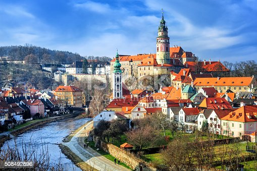 Old town of Cesky Krumlov, Czech Republic, UNESCO World Culture Heritage site