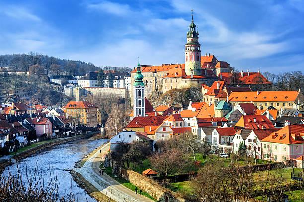 cesky krumlov, czech republic - çek cumhuriyeti stok fotoğraflar ve resimler