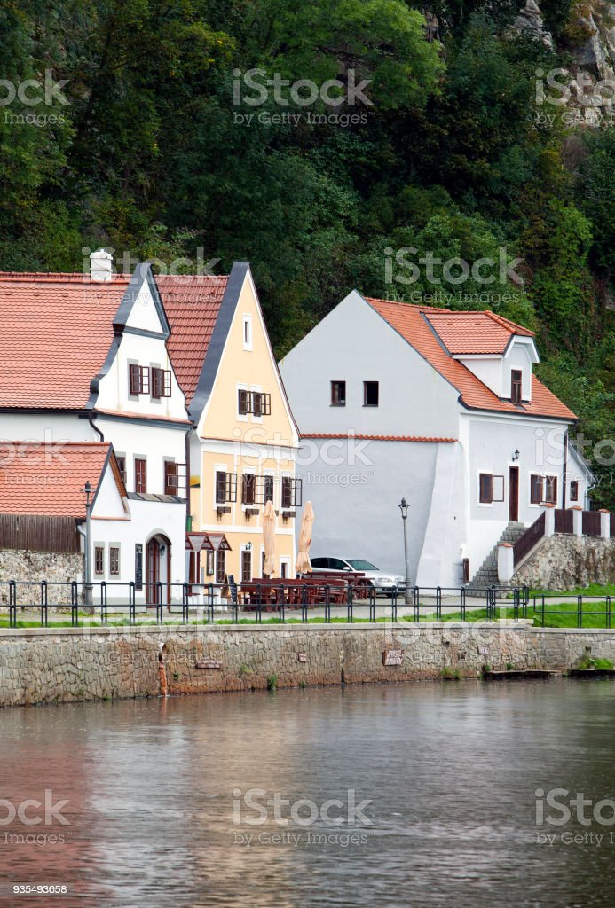 Cesky Krumlov. Czech Republic. stock photo