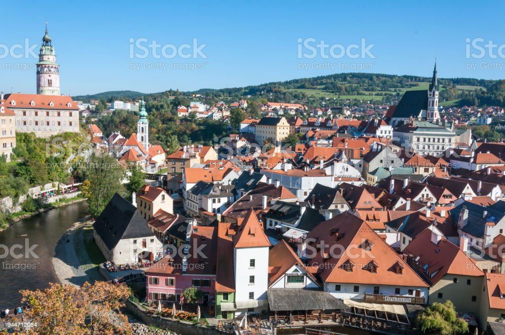 Cesky Krumlov, Czech Republic stock photo
