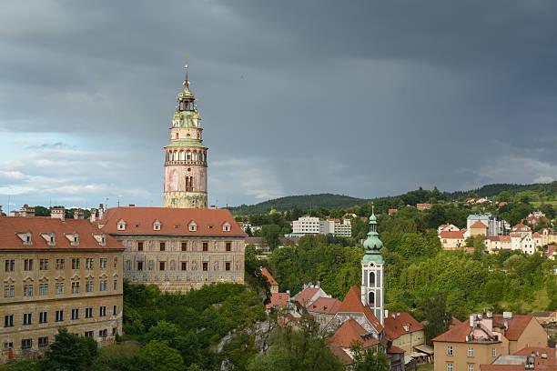 Cesky Krumlov centro histórico - foto de acervo