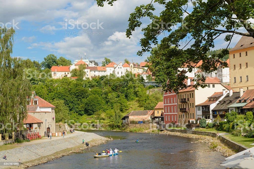 Cesky Krumlov centro histórico foto royalty-free