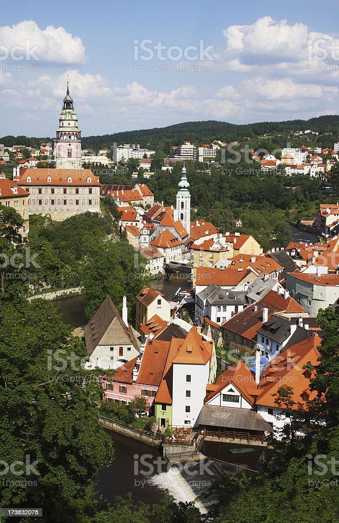 Cesky Krumlov in Czech Republic stock photo