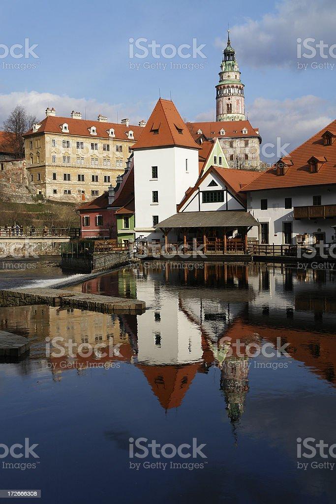 Cesky Krumlov in the Czech Republic royalty-free stock photo