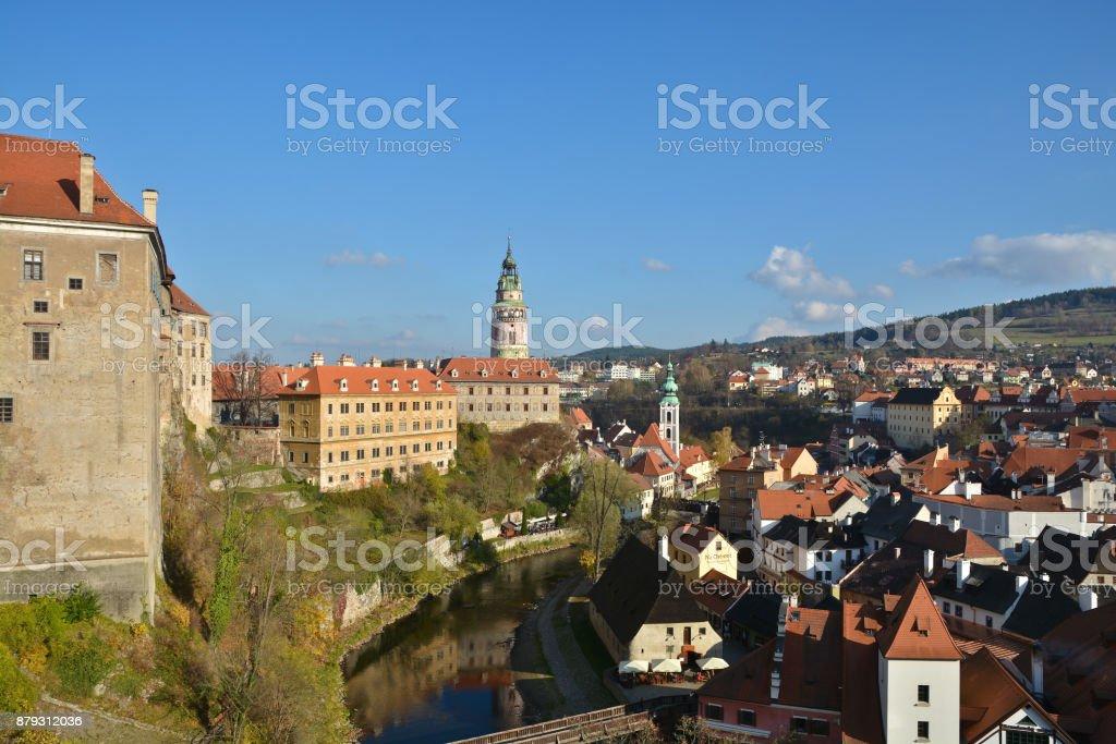 Cesky Krumlov is a UNESCO World Heritage Site. stock photo
