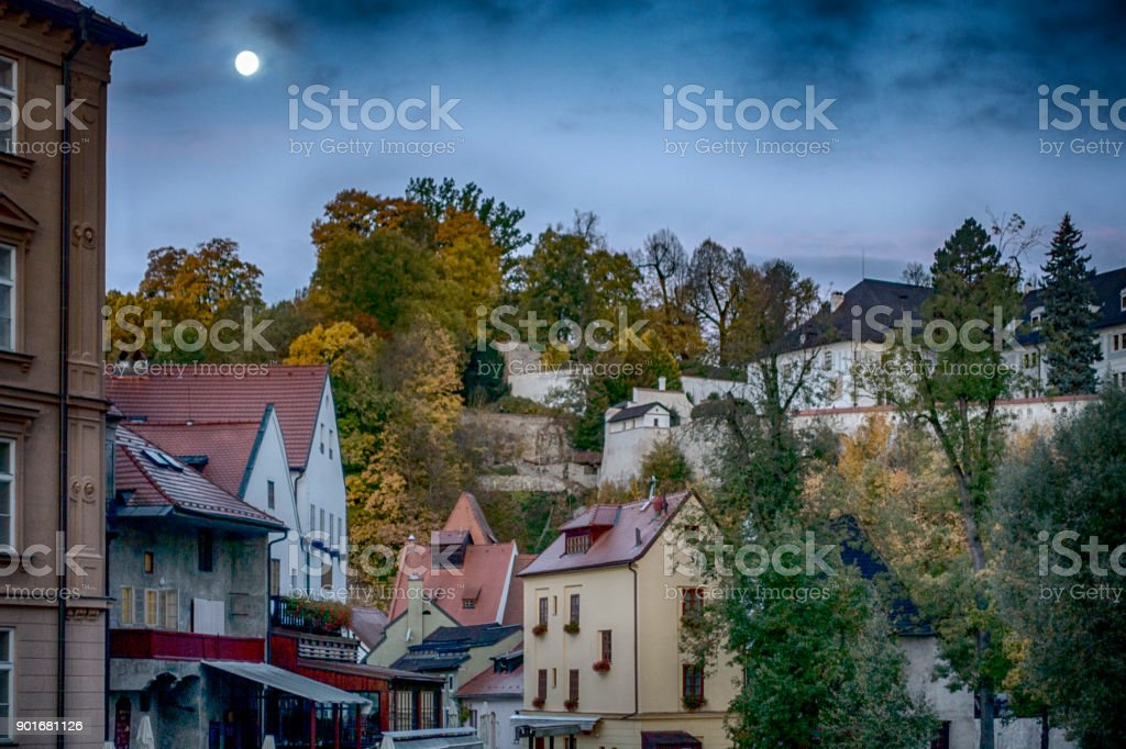 cesky krumrov in september stock photo