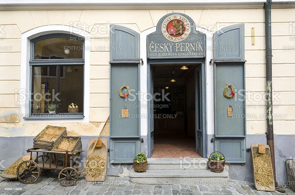 Cesky Pernik Gingerbread Shop in Czech Respublic Europe stock photo