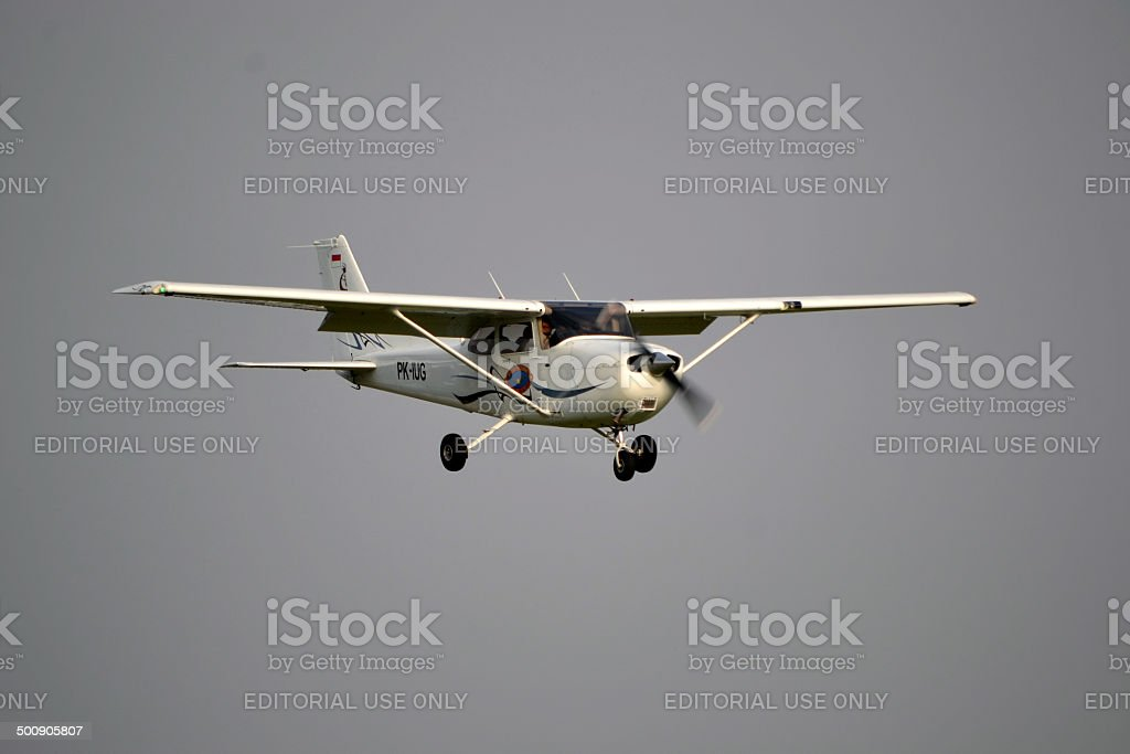 Cesna airplane stock photo