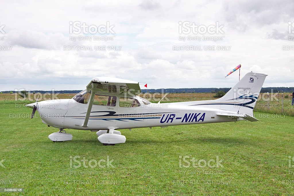 Cessna 172 Skyhawk stock photo