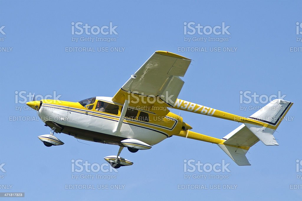 Cessna 336 airplane stock photo