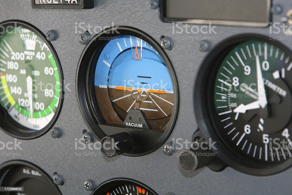 Cessna Cockpit Interior of an Airplane stock photo