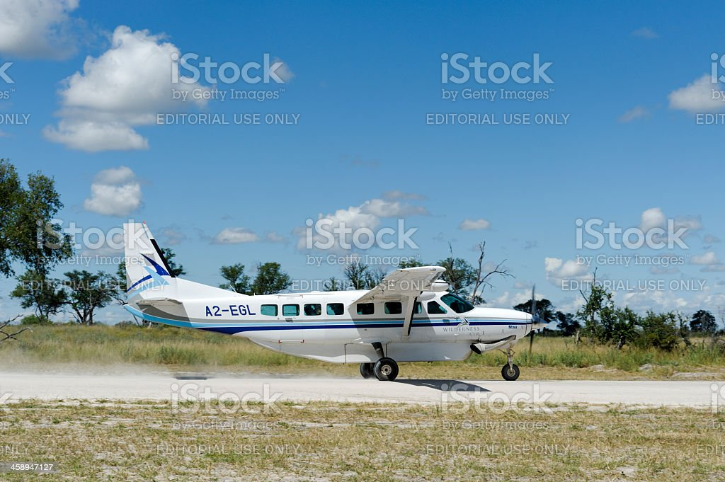 Cessna Grand Caravan taking off stock photo