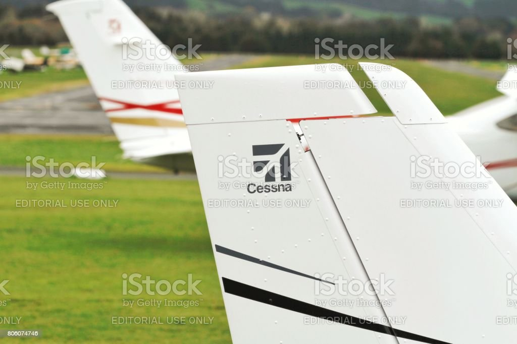 Cessna Logo On A Cessna 172 Aircraft Stock Photo More Pictures Of