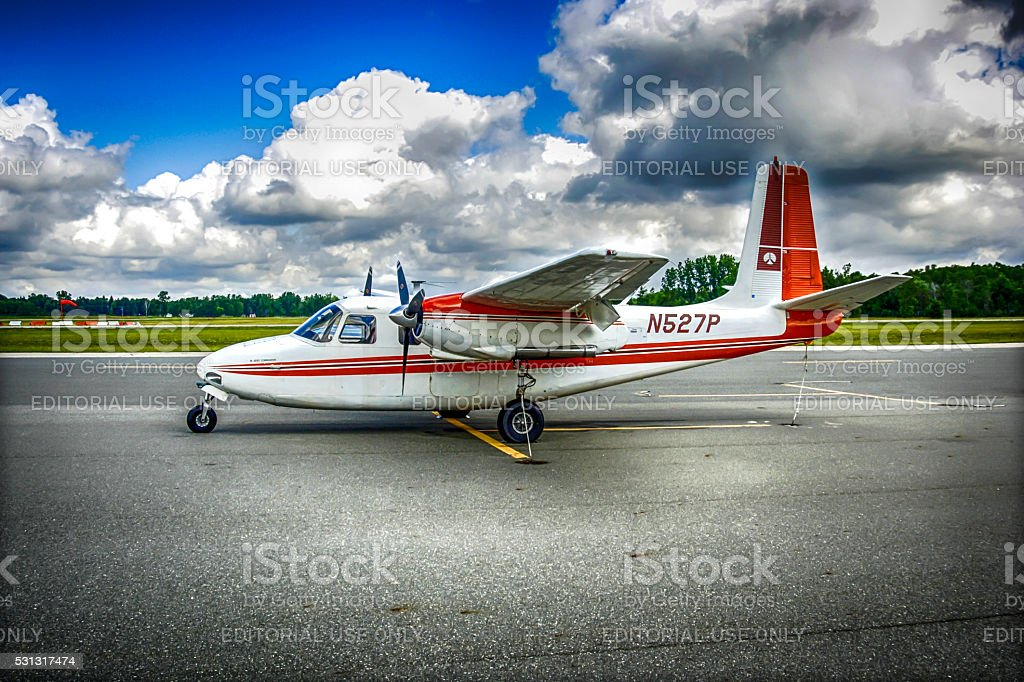 Cessna T210M civil aircraft at St.Clair county airport, MI stock photo