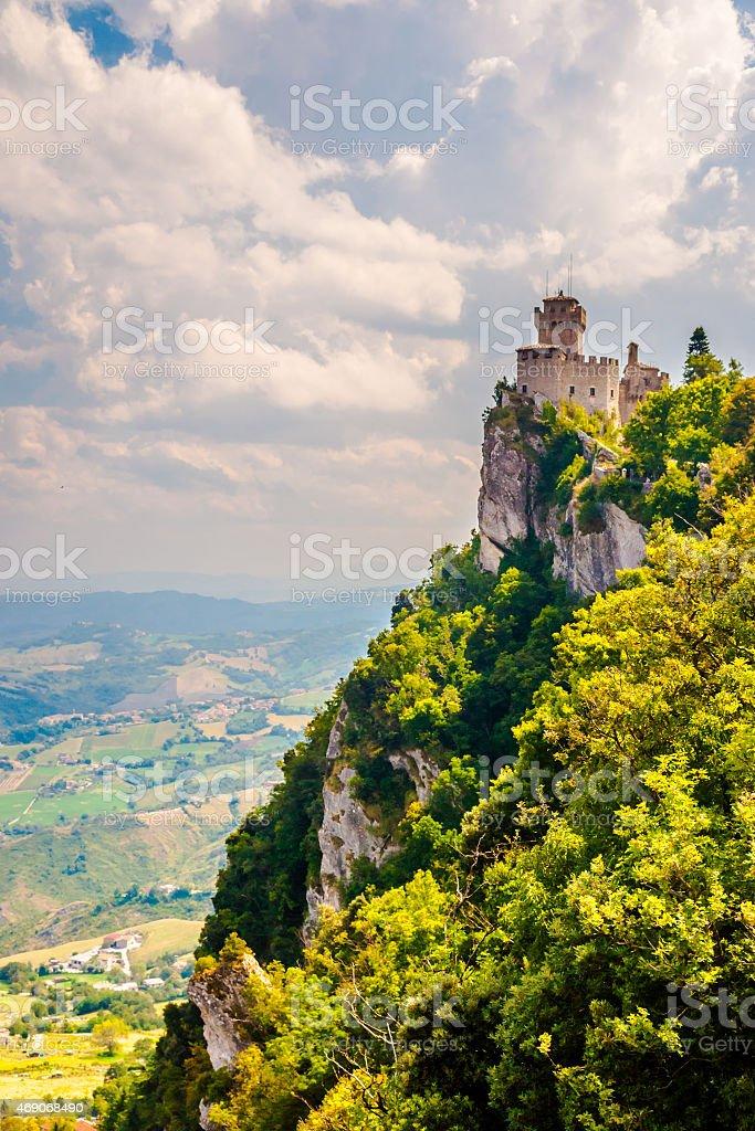 Cesta fortress, San Marino stock photo