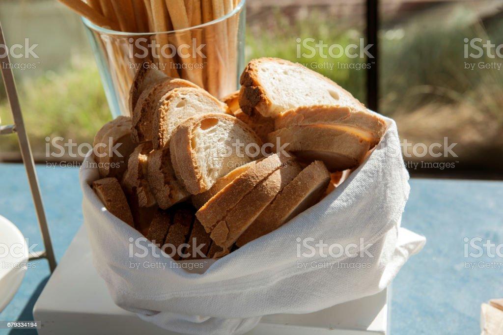 cestino di pane stock photo