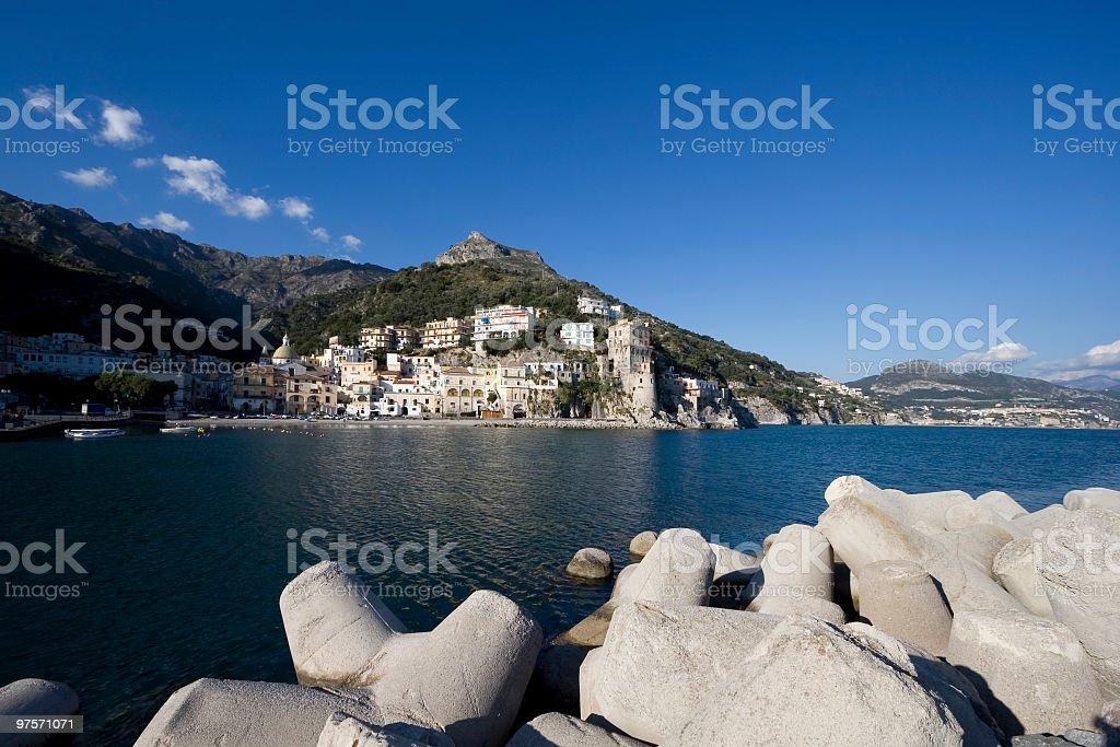 Cetara (little town in Amalfi coast,Italy) royalty-free stock photo