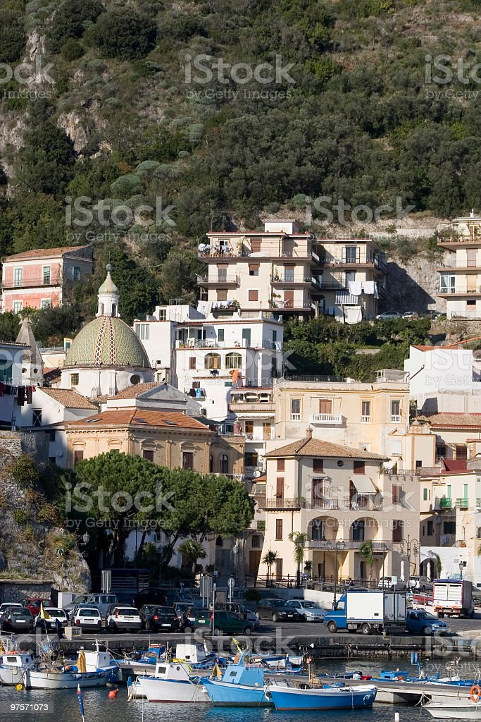 Cetara (little town in Amalfi coast,Italy) royalty-free stock photo